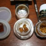 Death Star Sugar Crumble, Walter White shatter, Death Star Greenhouse pull-n-snap shatter and Hindu Kush live resin